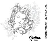 zodiac. vector illustration of... | Shutterstock .eps vector #325965026
