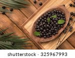 the amazon acai fruit. | Shutterstock . vector #325967993