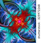 Fractal Illustration Of Bright...