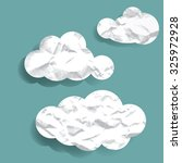 wrinkled paper clouds vector... | Shutterstock .eps vector #325972928