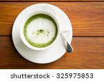green tea  milk  hot afternoon. | Shutterstock . vector #325975853