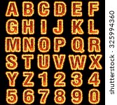 3d fire font collection on... | Shutterstock . vector #325994360