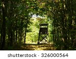 hunter's stand in the forest in ... | Shutterstock . vector #326000564
