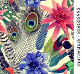 seamless vintage style pattern... | Shutterstock . vector #326003993