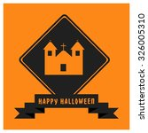 church hunted house icon. black ... | Shutterstock .eps vector #326005310