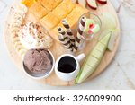 chocolate honey toast with ice... | Shutterstock . vector #326009900