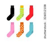set colorful socks.... | Shutterstock . vector #326012108