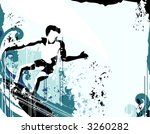 surfer grunge background | Shutterstock .eps vector #3260282