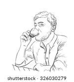 hand drawn illustration. man... | Shutterstock .eps vector #326030279
