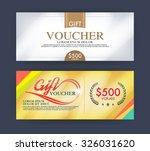 voucher template with premium... | Shutterstock .eps vector #326031620