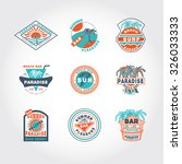 51 set concept  badge icon on... | Shutterstock .eps vector #326033333