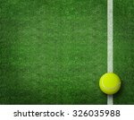 tennis balls on tennis grass... | Shutterstock . vector #326035988