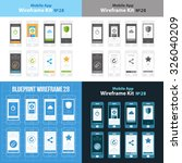 mobile wireframe app ui kit 28. ...