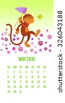 funny monkey preys on butterfly ...   Shutterstock .eps vector #326043188