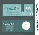 colorful gift voucher | Shutterstock .eps vector #326044760