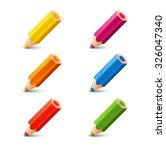 Set Of Color Pencils With...