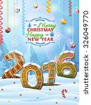 new year 2016 in shape of... | Shutterstock .eps vector #326049770