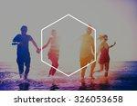 hexagon icon frame symbol copy... | Shutterstock . vector #326053658