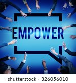 empower authority permission... | Shutterstock . vector #326056010