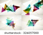set of angle and straight lines ... | Shutterstock . vector #326057000