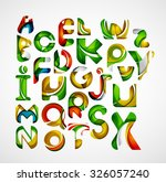 collection of alphabet letters... | Shutterstock . vector #326057240