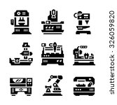 set icons of machine tool... | Shutterstock .eps vector #326059820