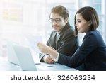 businessman brainstorm are... | Shutterstock . vector #326063234