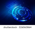 abstract technology blue... | Shutterstock .eps vector #326063864