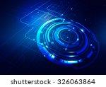 abstract technology blue... | Shutterstock .eps vector #326063864