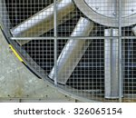 Small photo of Booster compressor cooling fan on wellhead platform