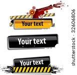 danger frame | Shutterstock .eps vector #32606806