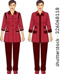 the suit for the woman consists ... | Shutterstock .eps vector #326068118