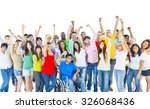 large group of people community ...   Shutterstock . vector #326068436