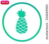 Pineapple vector icon.