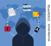 digital fraud and hacking... | Shutterstock .eps vector #326069936