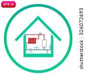heating scheme at home vector... | Shutterstock .eps vector #326072693