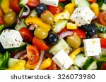 fresh close up vegetable greek... | Shutterstock . vector #326073980