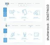 website template navigation... | Shutterstock .eps vector #326074610