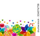lollypop big set with pinwheel... | Shutterstock .eps vector #326076758