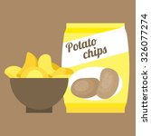 Vector Potato Chips Flat Design