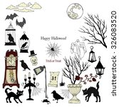 halloween. background with ... | Shutterstock .eps vector #326083520