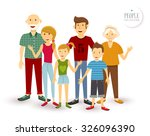 people collection  happy family ... | Shutterstock .eps vector #326096390
