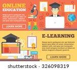 online education  e learning...   Shutterstock . vector #326098319