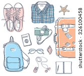 vector set with travel elements ... | Shutterstock .eps vector #326100458