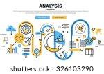 flat line design vector... | Shutterstock .eps vector #326103290
