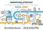 flat line design concept for...   Shutterstock .eps vector #326103296
