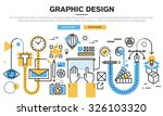 flat line design concept for... | Shutterstock .eps vector #326103320