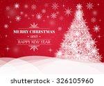 vector christmas tree... | Shutterstock .eps vector #326105960