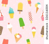 vector ice cream pattern... | Shutterstock .eps vector #326116004