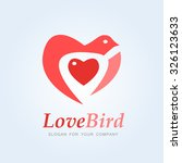 love bird. logo vector template. | Shutterstock .eps vector #326123633